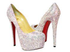 Christian Louboutin Daffodile Swarovski Crystal AB Pumps, $6,000! I need them in my life!