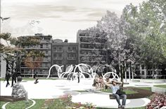 Diikitiriou Square Redevelopment, 1st PRIZE Location: Thessaloniki 2008  Project team: SCHEMA 4 ARCHITECTS, I. Vlachos   Participation in the design of Diikitiriou Square in collaboration with Schema 4 Architects, National Architectural Competition by Invitation