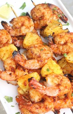 Sriracha-Lime Shrimp & Pineapple Skewers - Season with Spice