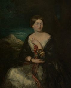 Princess Marie of Baden (d.1888), Daughter of Charles Louis Frederick, Prince of Baden by Francis Grant (attributed to). Oil on canvas, 123.8 x 98.4 cm - National Trust for Scotland.