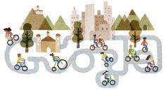 Google Doodle of the 40th anniversary of the Cycleway program Dec 15,