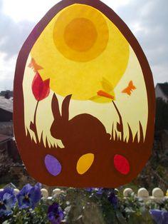 Waldorf+Transparentbild+Frühling+von+Puppenprofi+auf+DaWanda.com Waldorf Crafts, Waldorf Toys, Spring Crafts, Holiday Crafts, Diy Ostern, Nature Table, Spring Activities, Easter Crafts, Crafty