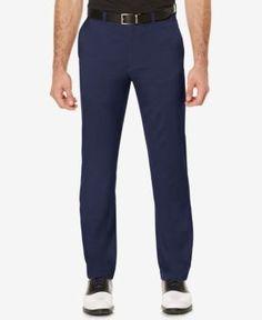Pga Tour Men's Flat-Front Golf Pants - Gray 42x32