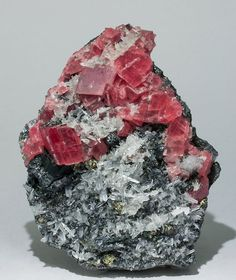Rhodochrosite with Quartz, Tetrahedrite, and Pyrite from Colorado by Fabre Minerals
