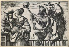 Tod und Teufel überraschen zwei Frauen