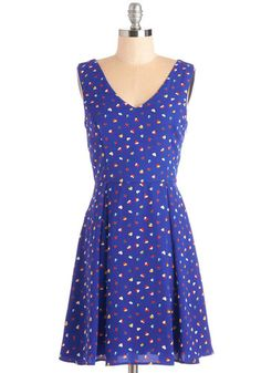 Sway True to Your Heart Dress. Live up to your whimsically radiant reputation in this royal blue dress! #gold #prom #modcloth