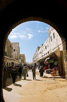 Entrance into the old medina, Essaouira, Morocco