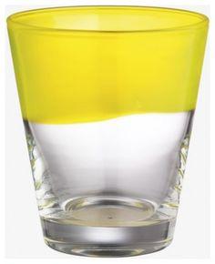 Galicia Yellow Glass Tumbler modern glassware | The House of Beccaria~
