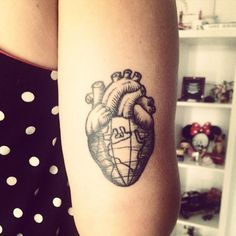 Pin for Later: These 61 Map Tattoos Will Give You Major Wanderlust Globe Heart Tattoo