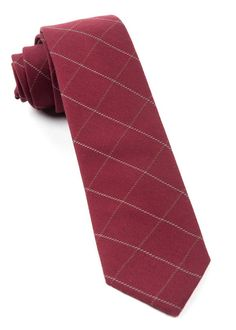 GOALPOST PANE TIES - BURGUNDY | Ties, Bow Ties, and Pocket Squares | The Tie Bar