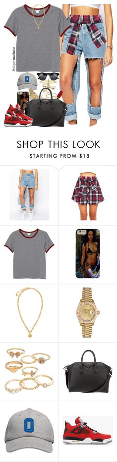 """""""Drake & Future   Diamonds Dancing"""" by dope-madness ❤ liked on Polyvore featuring The Ragged Priest, Monki, Versace, Grace Lee Designs, MAC Cosmetics, Rolex, Mudd, Givenchy, October's Very Own and NIKE"""