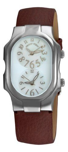 Philip Stein Women's 1FFSMOPCBR Cowhide Strap Watch Philip Stein. $309.40. •2 Swiss-Quartz movements•Stainless steel case•Brown cowhide strap, Mother-Of-Pearl dial, arabic numerals•2 time zone displays•Water-resistant to 99 feet (30 M)