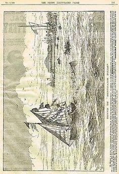 Beecham's Pills - SAVING THE SINKING BOAT - Antique Advertsing -1889