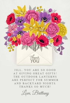 Summer blossom - Thank You Card #greetingcards #printable #diy #thankyou #notes #thanks Thank You Notes, Thank You Cards, Thank You Card Template, Great Gifts, Greeting Cards, Thankful, Printables, Messages, Templates