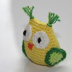 Uiltje haken | draadenpapier | Gratis patroon van Sidrum #haken #uil #crochet #owl