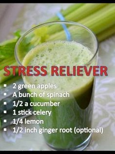 Try this #healthyfood stress reliever juice on a hot summer day! Its calming #ingredients are always delightfully #refreshing!