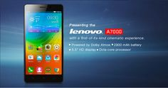 The Lenovo A7000 is the world's first smartphone with the all-new Dolby Atmos®.