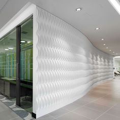 Designed to diffuse sound, reduce acoustic glare and eliminate standing waves, these modular 3D wallpaper tiles combine cost-effective sound control with an elegant weave pattern. Vertical and horizontal arrangements provide improved acoustics and superior aesthetics to any room. These lightweight, recycled paper modules come in packs of 12 one square foot tiles (30.5 cm x 33 cm) and can be installed temporarily with double-sided tape or permanently with wallpaper paste.