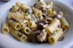 Maggiano's Famous Rigatoni 'D': chicken, mushrooms and caramelized onions in a Marsala cream sauce.