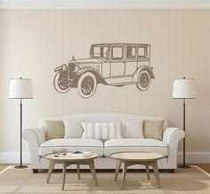 kik2436 Wall Decal Sticker car classic old retro study bedroom living room