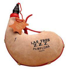 Traditional Spanish wine bota wineskin