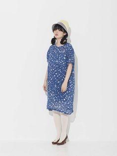 青柳文子│mina perhonenのワンピース・ドレスコーディネート-WEAR