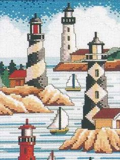 Lighthouses - Janlynn Cross Stitch Kit