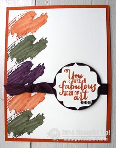 Stampin up You are a Fabulous Work of Art. Featuring new in colors: Blackberry Bliss, Mossy Meadow and Tangelo Twist #stampinup