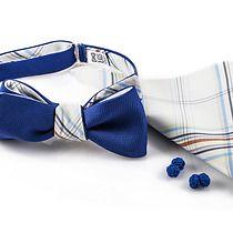 KOMPLET Mucha wiązana MURCJA dwustronna poszetka, akcesoria - muszki & krawaty