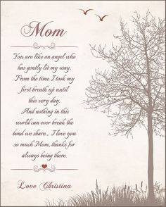 Personalized Mothers Day Gift Mom Print By GoldHousePrints