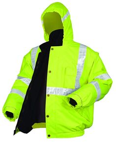 9ca4e7adf8 MCR Safety BPCL3LXL Luminator Class 3 Insulated Polyester 4-in-1 Bomber  Plus Jacket