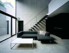 Living Room Mejiro house by MDS