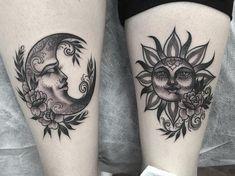 sun and moon tattoo ideas #TattooIdeasBack