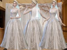 Ivory silk ball dress with fancy lace sleeves Found in TSR Category 'Sims 4 Female Formal' Sims 4 Cc Skin, Sims Cc, Sims 4 Wedding Dress, Wedding Dresses, Sims4 Clothes, Sims 4 Dresses, Sims 4 Update, Sims 4 Cc Finds, Sims 4 Clothing