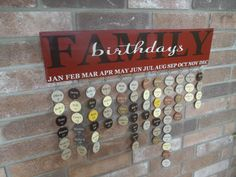 No Vinyl  Family Birthday Reminder Board Sign  by sweetJAMshop, $75.00