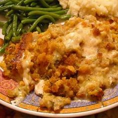 Swiss Chicken Casserole-I have been making this forever.  It is super easy and comfort food at its best!