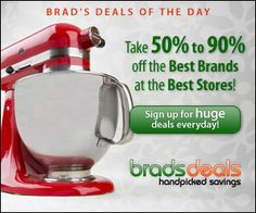 SAVE up to 90% off with Brad's Daily Deals => http://fantasticfreebies.net/4793/brads-deals-save-up-to-90-on-best-brands/ #bradsdeals #dailydeals #freebies