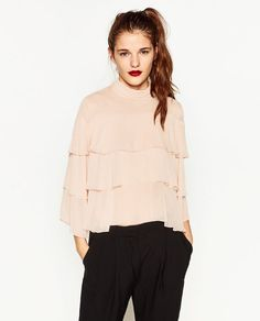 Image 2 of 3/4 SLEEVE FRILLY BLOUSE from Zara