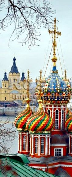 colorful domes of Russian churches