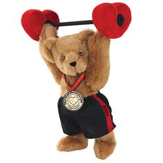 """15"""" My Heart Pounds For You Bear from Vermont Teddy Bear. $69.99 #ValentinesDay #Gift #TeddyBear"""