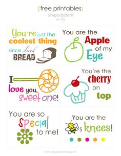 free printable - lunch box notes