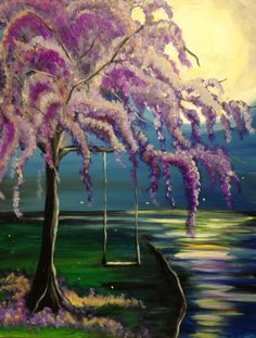 3 hour simple paintings River-Willow Large