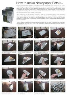 Step by Step How To Make Pots From Newspaper.