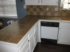 Ceramic Tile Kitchen Countertop | Found On Wisechoicehome.blogspot.com