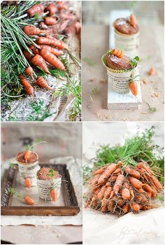 Carrot cupcakes / carrot collage