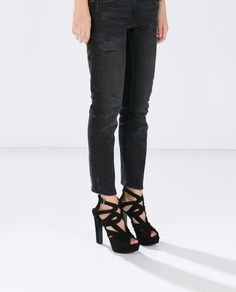 ZARA - WOMAN - HIGH HEEL ANKLE BOOT SANDAL