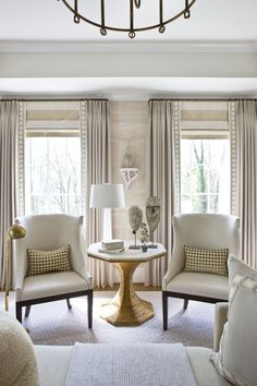 Window Treatment Ideas: Roman Shades and Drapery Panels Learn basic terminology about popular window treatments like roman shades, natural woven shades and drapery panels Curtains Living, Living Room Windows, My Living Room, Home And Living, Living Room Decor, Living Spaces, Window Treatments Living Room Curtains, Custom Window Treatments, Curtain Ideas For Living Room