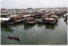 Lagos, Nigeria. Makoko, a slum on the Lagos Lagoon.