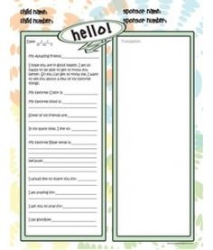 Compassion Writing Stationary | Letter Writing Ideas | Pinterest ...