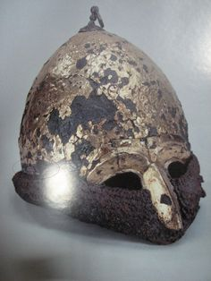 Polovtsian (Cuman/Kipchak) helmet with a half mask from the burial mound Chingul ((IV type by Kirpichnikov). Sca Armor, Turkish Soldiers, Military Costumes, Medieval Helmets, Baba Yaga, Anglo Saxon, Archaeology, Ukraine, Vikings